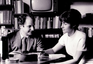 Buzzi con la moglie Martha nel 1968