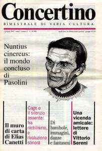 Il primo fascicolo della rivista «Concertino» (1 giugno 1992)
